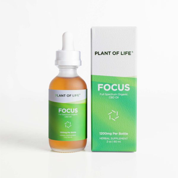 Full Spectrum Organic CBD Oil - Focus | Plant of Life