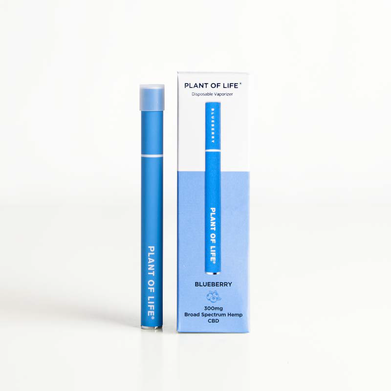 Broad Spectrum Disposable CBD Vape Pen - Blueberry